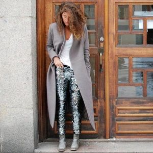 Isabel Marant for H&M silver sequin pull-on pant 2